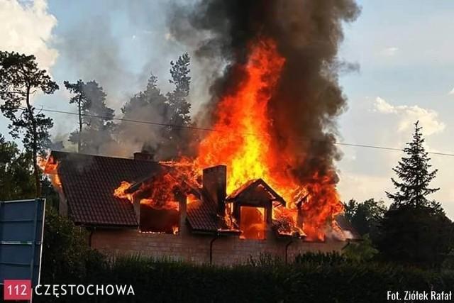 Pożar budynku w Blachowni