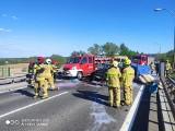 Chełmno. Wypadek na moście Chełmno-Świecie. Ucierpiały dzieci. Zdjęcia