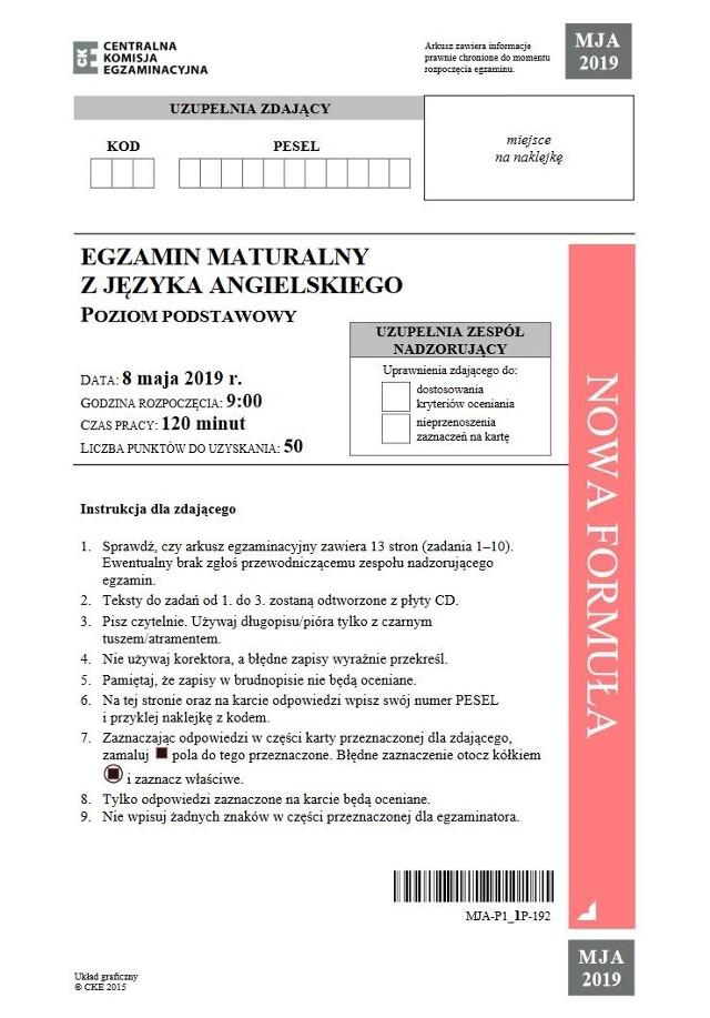 Matura JĘZYK ANGIELSKI 2019: odpowiedzi, wyniki, zadania, arkusze CKE. Co było na egzaminie matura 2019 język obcy odpowiedzi (7.05.2019)