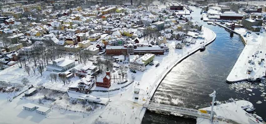 Ustka, letnia stolica Polski w zimowej szacie. Zobacz...