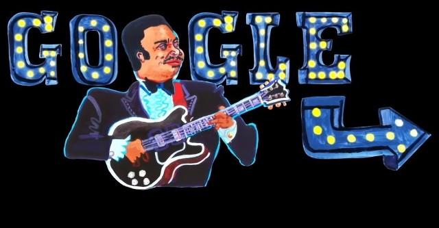 """B.B.King w Google Doodle. 16 września Google poprzez animowane wideo Google Doodle świętuje 94. urodziny """"Króla Bluesa"""". Zobaczcie, kim był B.B. King, którego uhonorowano dedykowanym Google Doodle."""