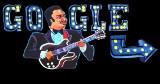 """B.B.King uhonorowany przez Google Doodle. Google świętuje 94. urodziny """"Króla Bluesa"""" animowanym wideo Doodle"""