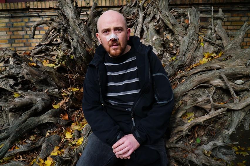 Jurij Czebotarow, aktor spod Lwowa, który od trzech lat mieszka i pracuje w Poznaniu.