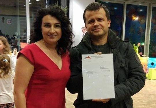 Karolina Kępczyk i Michał Bartusiak podczas 25 finału WOŚP