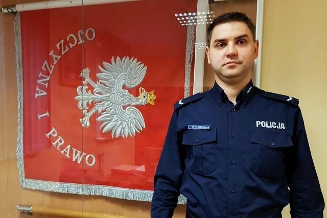 Sierżant Sebastian Warzecha po służbie zatrzymał złodzieja.