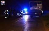 Powiat lubartowski. Tragiczny wypadek z udziałem nietrzeźwego kierowcy. Potrącony mężczyzna zginął na miejscu
