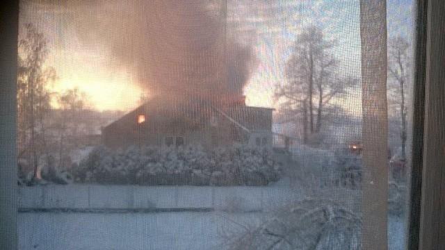Pożar domu w Stanisławowie