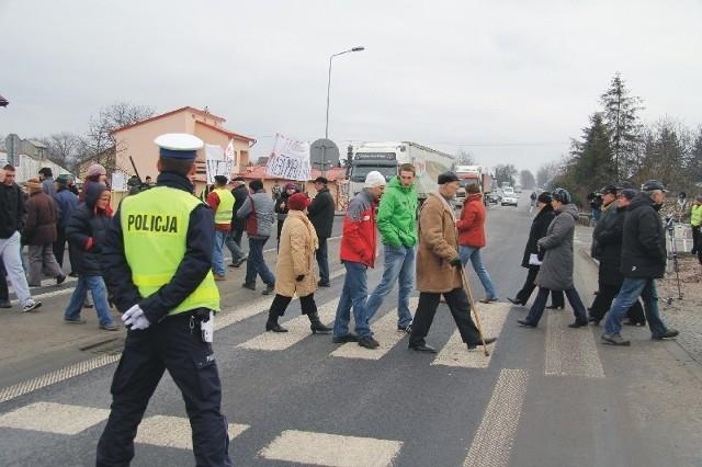 Blokada drogi w Jarosławiu. Zdjęcie archiwalne.