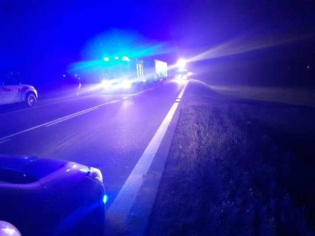 Netta Druga. Wypadek z udziałem ciężarówki zablokował DK 61