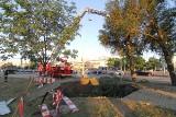 Grabiszyńska znów była zablokowana w miejscu awarii. Straż ścinała drzewo (FILM, FOTO)