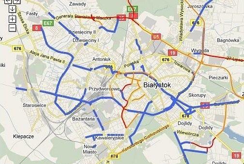 Interaktywna Mapa Rowerowa Bialegostoku Kurier Poranny