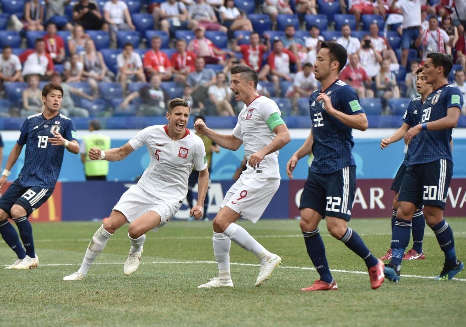 2ef4e7c34 MŚ 2018 Japonia - Polska. Jan Bednarek strzelił gola dla Polski ...