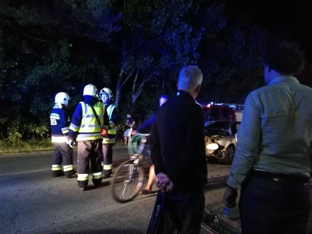 Wypadek w Chałupach (11.07.2018)