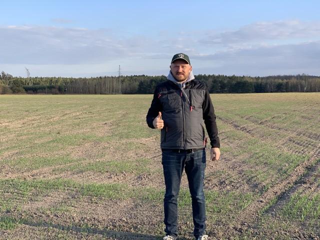 Prezes Bio-Med oraz właściciel gospodarstwa rolnego w Odrowążu Stefan Sikora.