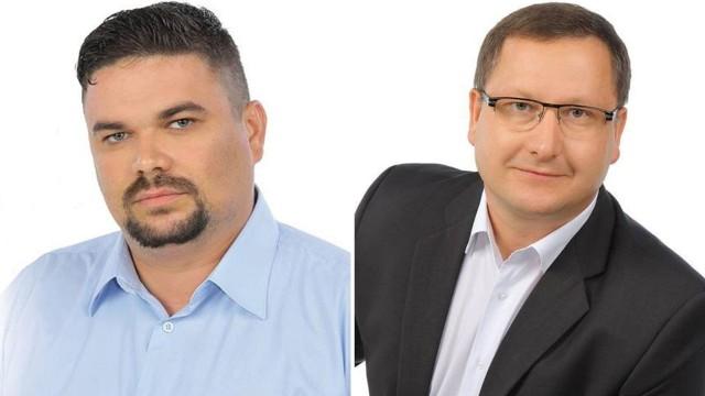 """Burmistrz Mariusz Piątkowski (z prawej) złożył skargę do pracodawcy radnego Krzysztofa Skrzynieckiego na jego zachowanie. Radny uważa, ją za próbę """"zdyskredytowania, podporządkowania, złamania zasady niezależności radnego od organu wykonawczego"""""""