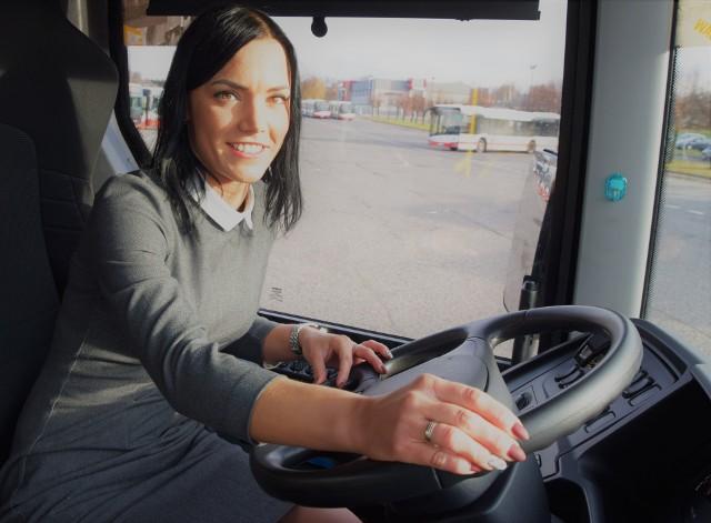 Agata Sałata prowadzi autobusy w Jastrzębiu i całym regionie rybnickim
