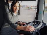 Jastrzębie: Agata Sałata, najpiękniejsza pani szofer w Polsce. Wozi pasażerów w regionie rybnickim ZDJĘCIA + WIDEO