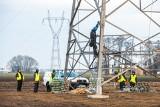 Trwają prace przy budowie linii energetycznej Piła-Plewiska. Prąd popłynie nią już za niecały rok