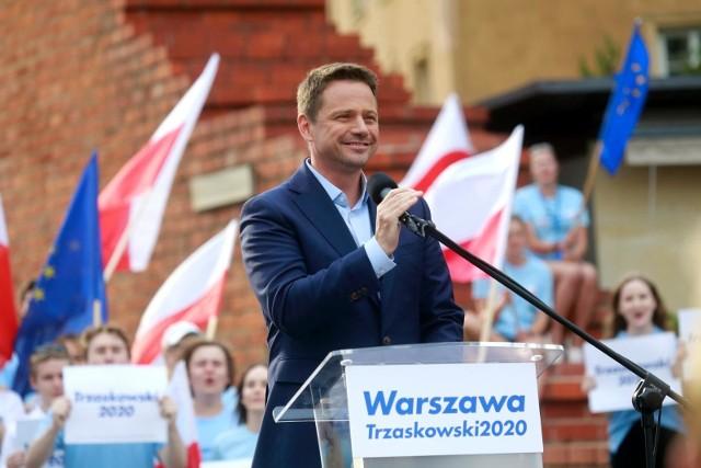 Wiec wyborczy Rafała Trzaskowskiego w Warszawie
