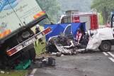 DK 25: Śmiertelny wypadek na trasie Kalisz - Zbiersk. Osobówka zderzyła się z samochodem dostawczym [ZDJĘCIA]