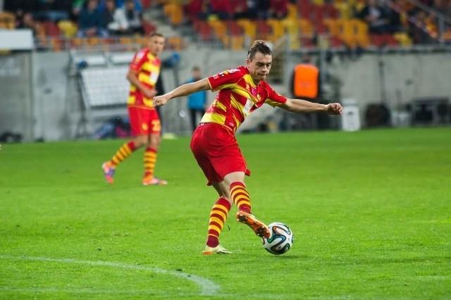 Maciej Gajos w sparingu z trzecioligową Unią Swarzędz strzelił trzy gole. Oby pomocnik Jagiellonii Białystok był równie skuteczny w wiosennej części rozgrywek ekstraklasy.