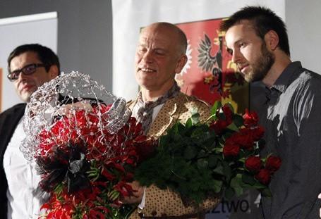 John Malkovich przybył z wizytą do Łodzi.