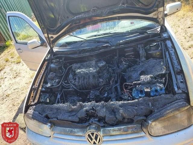 Pożar auta w Polanowie