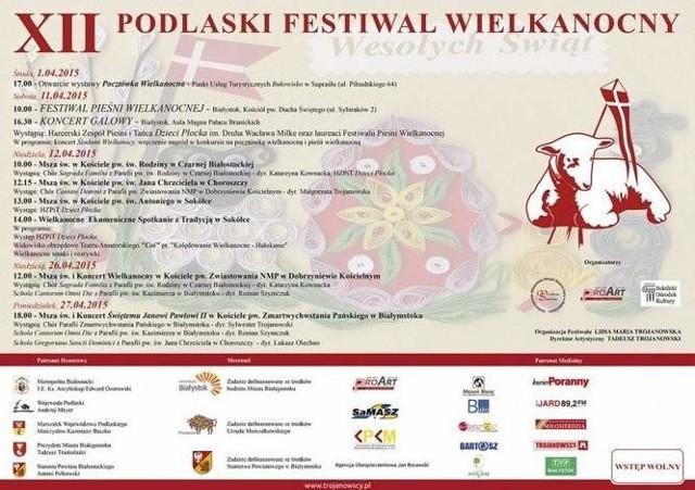 Plakat promocyjny festiwalu