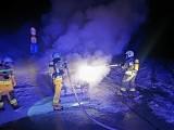 Pożar samochodu w Grębowie. Auto spłonęło doszczętnie. Jaka przyczyna? (ZDJĘCIA)