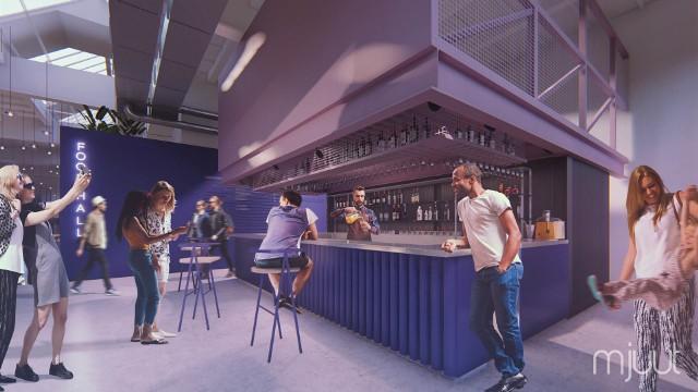 Pierwsza krakowska hala gastronomiczna (food hall) - Hala Lipowa: wizualizacja. Otwarcie już w najbliższą niedzielę, 31 lipca 2020 roku.