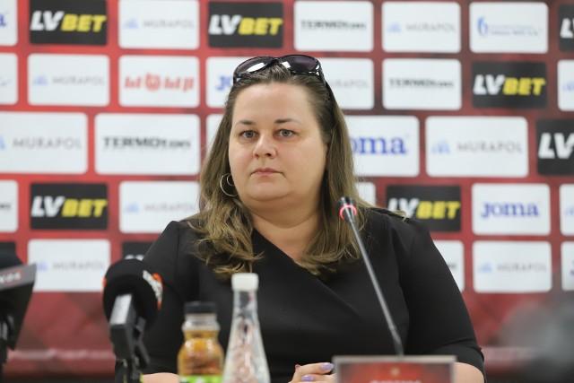 Prezes Widzewa Martyna Pajączek