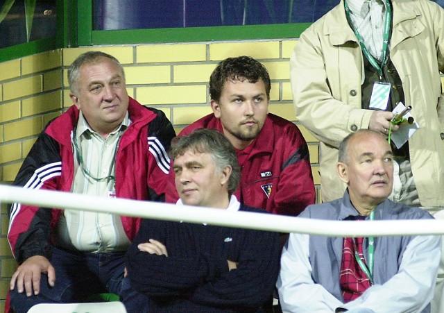 Czy wiceprezydent Szczecina Mirosław Czesny (z prawej) i sponsor Pogoni Antoni Ptak patrzą już w zupełnie inne strony?