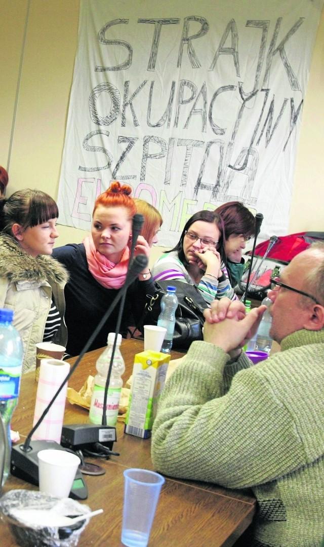 Gdy Fundusz w grudniu 2013 r. wypowiedział EuroMedicowi kontrakt w szpitalu rozpoczął się strajk okupacyjny