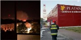 Pożar sklepu meblowego Platan w Szczecinie. Płonęła hala przy ul. Jagiellońskiej - 11.08.2020