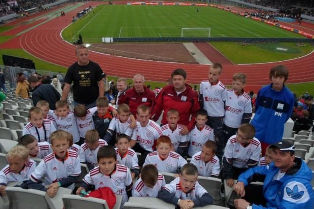 Młodzi dębiczanie odwiedzili również Stadion Olimpijski w Amsterdamie.