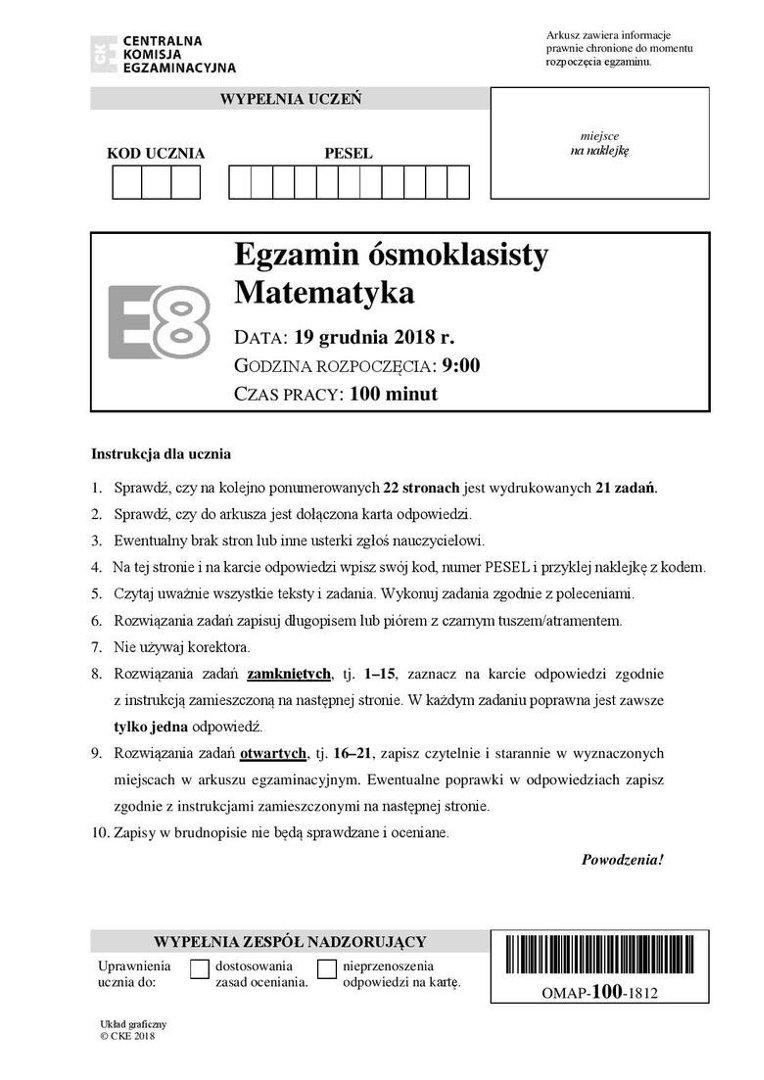 klucz matura 2021 matematyka