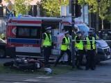 Śmiertelny wypadek motocyklisty na Kilińskiego w Łodzi. Zginął pasażer. Motocyklista był pijany nie miał uprawnień! [ZDJĘCIA]