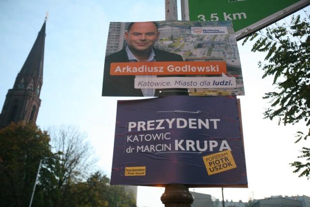 Podczas ubiegłorocznej kampanii wyborczej do samorządu plakaty i dykta zalały Katowice