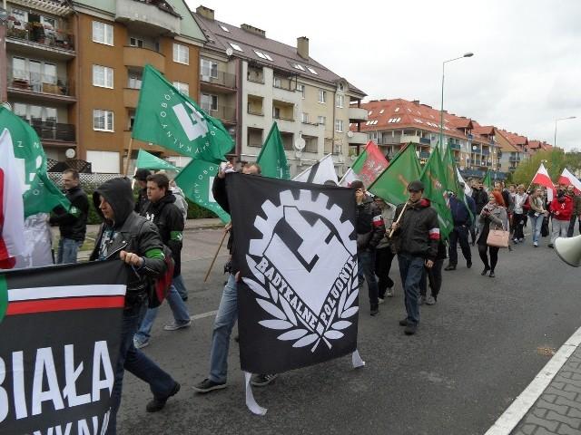 Narodowcy z Sosnowca i innych miast województwa śląskiego rozpoczęli swój marsz