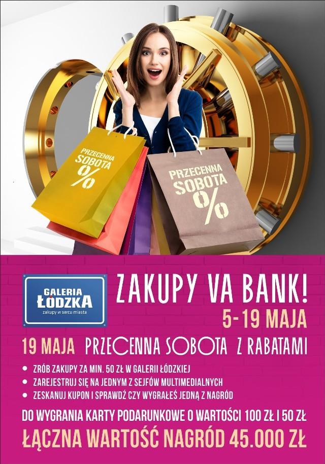 Do soboty 19 maja w Galerii Łódzkiej trwa wielka loteria. W sobotę można też będzie zrobić zakupy ze zniżką