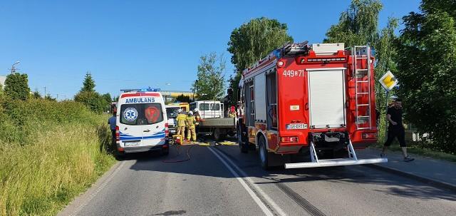 Do wypadku czołowego doszło w miejscowości Fijewo w Gm. Radzyń Chełmiński. Kierowca jednego z aut trafił do szpitala