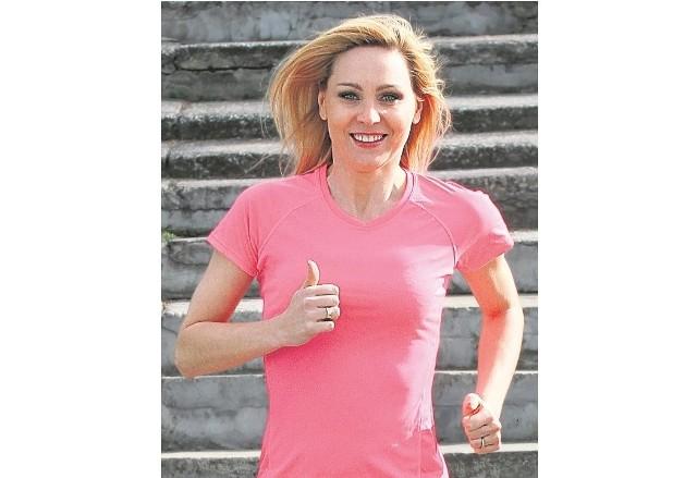 Olga Chaińska propaguje sport.