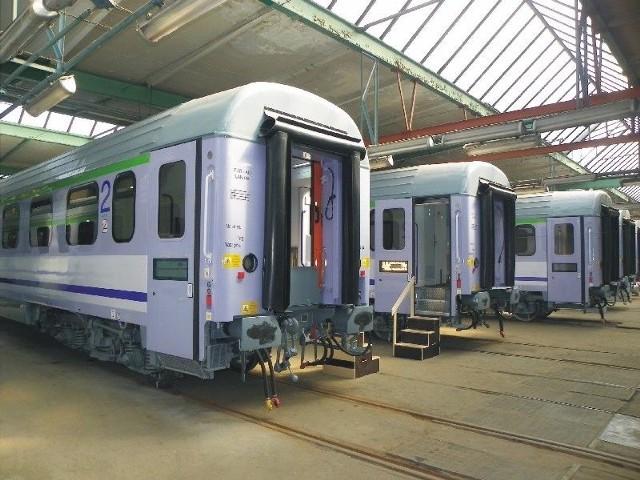 Wagony z klimatyzacją wyjadą na trasę Przemyśl - SzczecinZmodernizowane wagony.