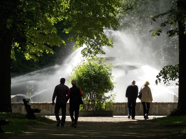 Rewitalizacja parku trwa etapami od kilkunastu miesięcy. Niebawem odświeżona ma zostać także fontanna