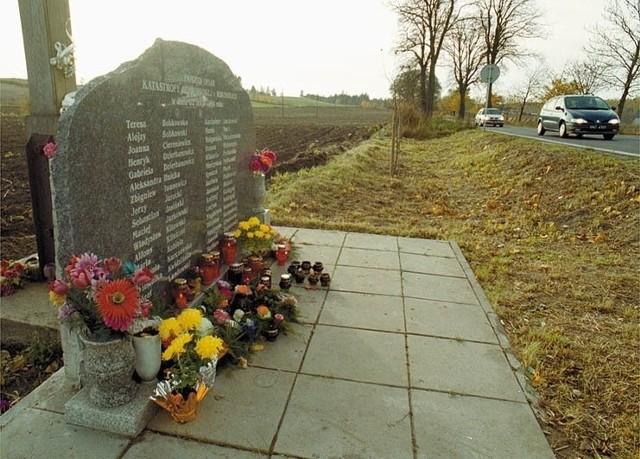 Wypadek w Gdańsku Kokoszkach - pamiątkowa tablica