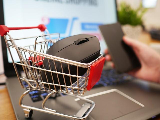 E-sklepy to  ok. 10 proc.  sprzedaży. Popierający nową daninę  tłumaczą, że w pandemii sieci sprzedają dużo w sieci.