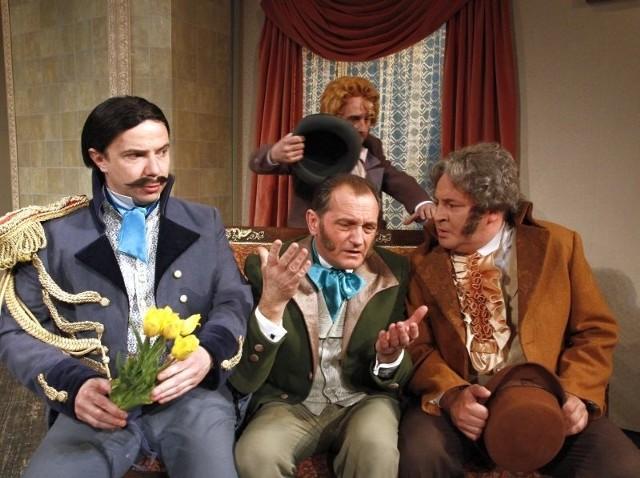 W głównych rolach zobaczymy (od lewej): Macieja Radziwanowskiego, Wojciecha Wysockiego, Marka Tyszkiewicza oraz (na górze) Sławomira Popławskiego.