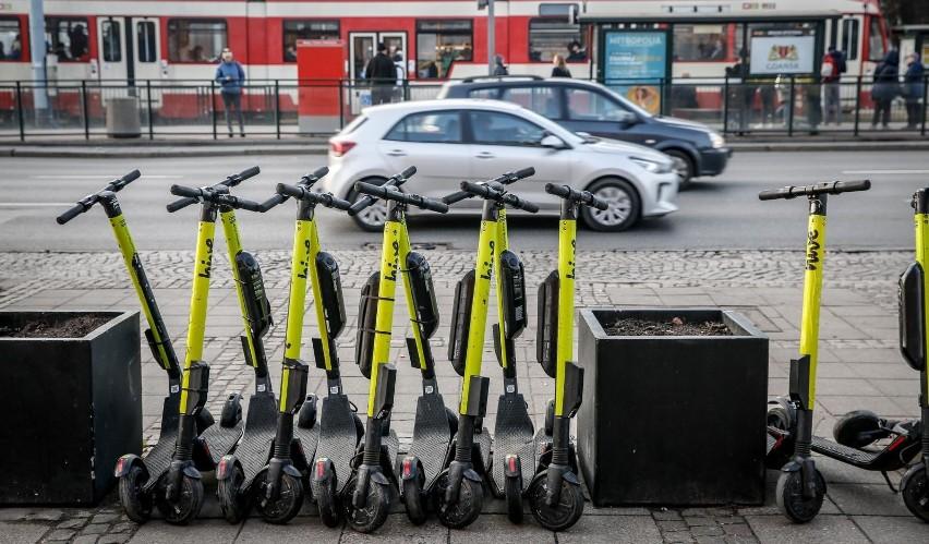 W Gdańsku będzie 200 miejsc na postój dla hulajnóg elektrycznych