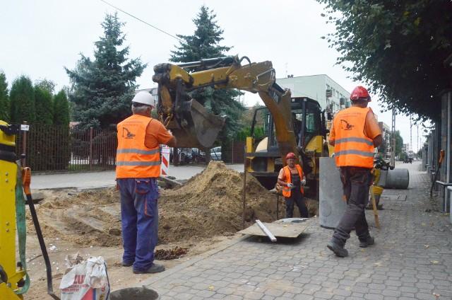 Remont na ulicy Jagiellońskiej w Bielsku Podlaskim