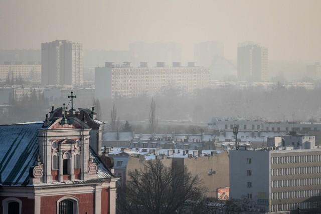 Jakość powietrza w Poznaniu w poniedziałek, 25 stycznia.